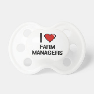 I love Farm Managers Baby Pacifiers
