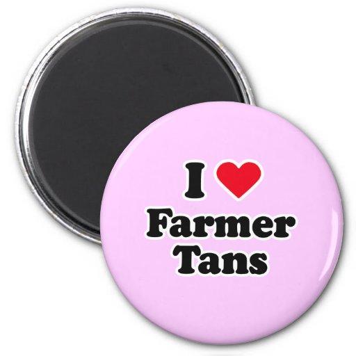 I love farmer tans fridge magnet