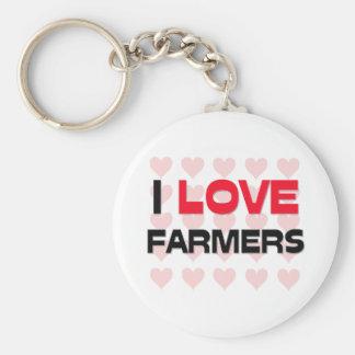 I LOVE FARMERS KEY RING