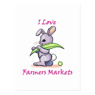 I Love Farmers Market Postcard