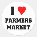 I love Farmers Market Round Sticker