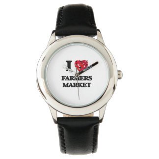 I Love Farmers Market Wrist Watches