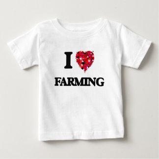 I Love Farming food design T Shirts
