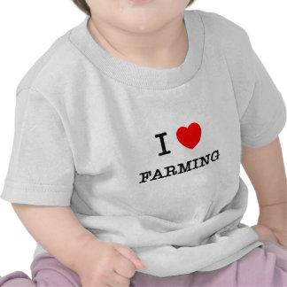 I Love FARMING ( food ) T Shirts
