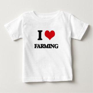 I Love Farming T Shirt