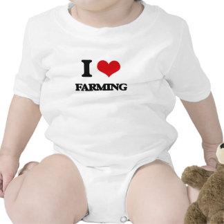 I Love Farming Baby Bodysuit
