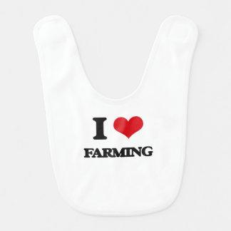I love Farming Baby Bib