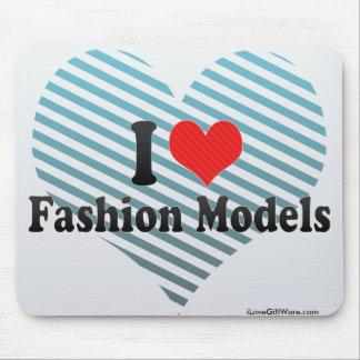 I Love Fashion Models Mousepad