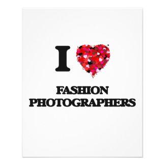 "I love Fashion Photographers 4.5"" X 5.6"" Flyer"