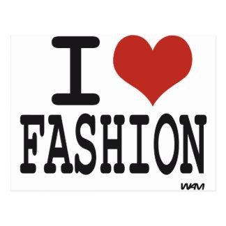 I love Fashion Postcard