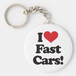 I Love Fast Cars Keychains