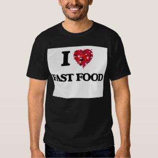 I Love Fast Food food design T-shirt