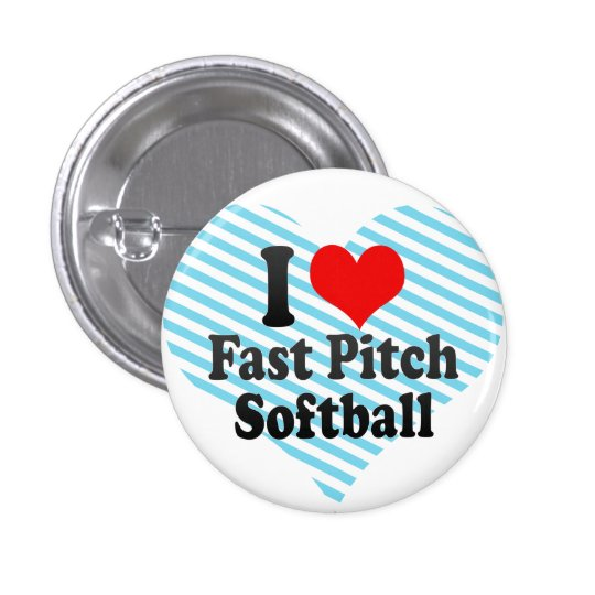 I love Fast Pitch Softball 3 Cm Round Badge