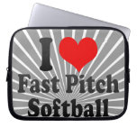 I love Fast Pitch Softball Laptop Computer Sleeves