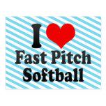 I love Fast Pitch Softball Postcard