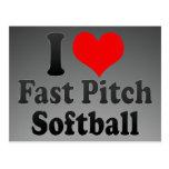 I love Fast Pitch Softball Postcards