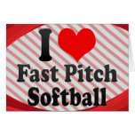 I love Fast Pitch Softball Stationery Note Card