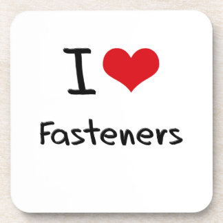 I Love Fasteners Drink Coaster