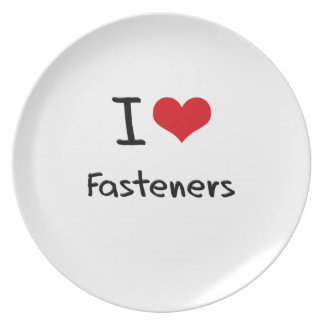 I Love Fasteners Party Plates