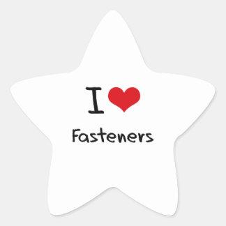 I Love Fasteners Star Sticker