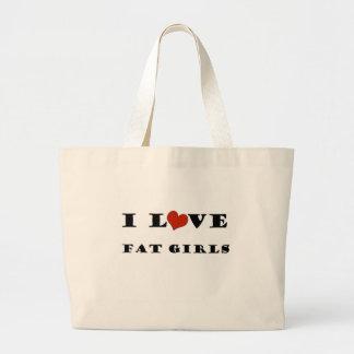 I Love Fat Girls Tote Bag