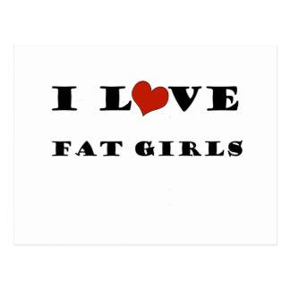 I Love Fat Girls Postcards