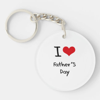 I Love Father'S Day Double-Sided Round Acrylic Key Ring
