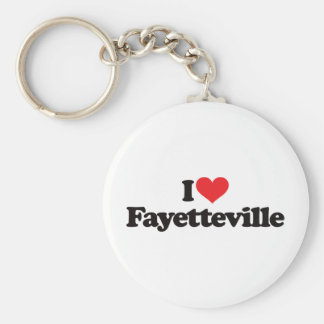 I Love Fayetteville Basic Round Button Key Ring