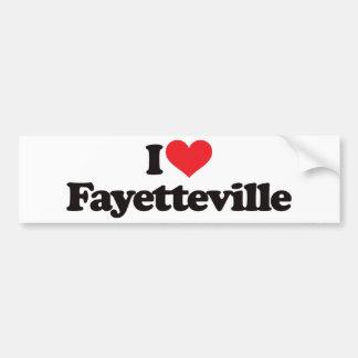 I Love Fayetteville Bumper Sticker