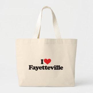 I Love Fayetteville Jumbo Tote Bag