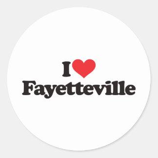 I Love Fayetteville Round Sticker