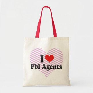 I Love Fbi Agents Tote Bags