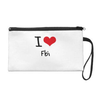 I Love Fbi Wristlet Purse