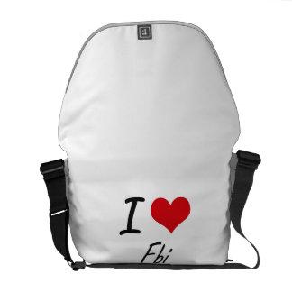 I love Fbi Courier Bag