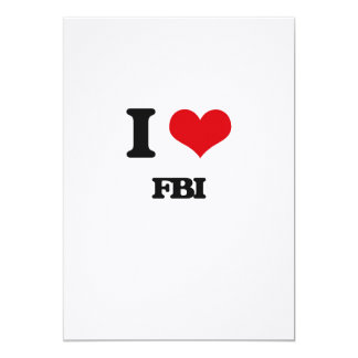 I love Fbi 5x7 Paper Invitation Card