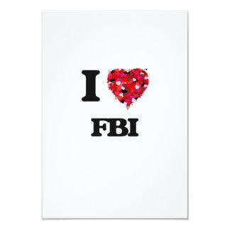 I Love Fbi 9 Cm X 13 Cm Invitation Card