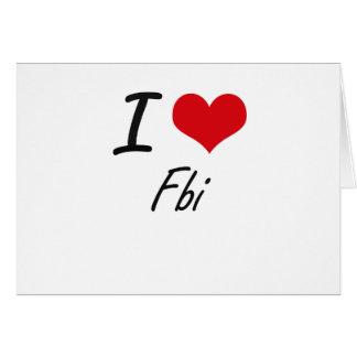 I love Fbi Note Card