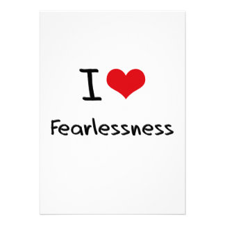 I Love Fearlessness Personalized Invite