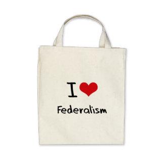 I Love Federalism Canvas Bags
