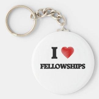 I love Fellowships Basic Round Button Key Ring