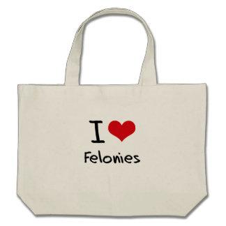 I Love Felonies Tote Bag
