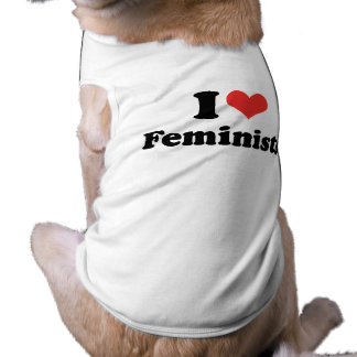 I LOVE FEMINISTS - .png Sleeveless Dog Shirt