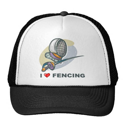 I Love Fencing Hat