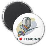 I Love Fencing Refrigerator Magnet