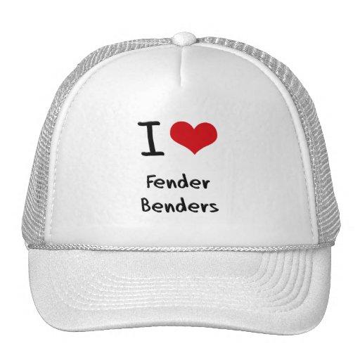 I Love Fender Benders Mesh Hats