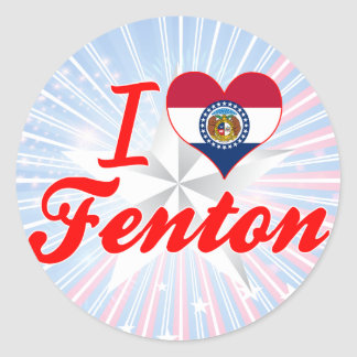 I Love Fenton Missouri Sticker