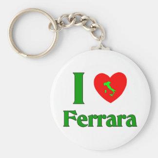 I Love Ferrara Italy Basic Round Button Key Ring