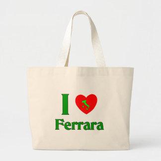 I Love Ferrara Italy Jumbo Tote Bag