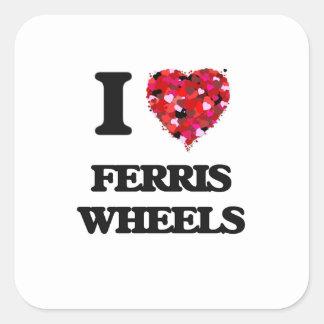 I Love Ferris Wheels Square Sticker