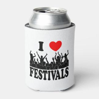 I Love festivals (blk) Can Cooler